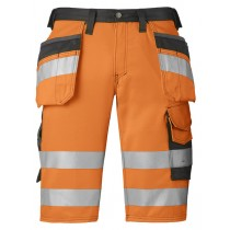 Snickers High-Vis Holster Pocket Shorts, Class 1