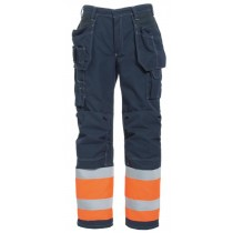 Tranemo FR Craftsman Trousers Orange/Navy
