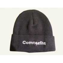 Knitted hat with Comtecint logo