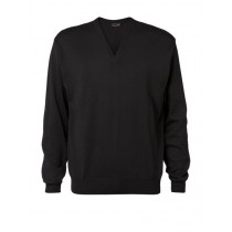 Clipper V-neck Pullover - Men model - Black