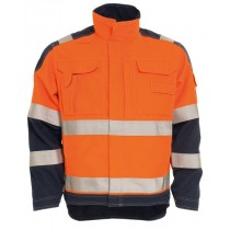 Tranemo Anti Flame jacket Orange/navy